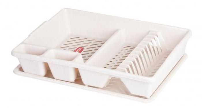 Сушилка для посуды Curver, с поддоном, цвет: бежевый, 47 х 38 х 8,5 смВетерок-2 У_6 поддоновСушилка для посуды Curver изготовлена из высококачественного прочного пластика. Изделие оснащено пластиковым поддоном для стекания воды и содержит секции для вертикальной сушки посуды и столовых приборов. Такая сушилка не займет много места на кухне и поможет аккуратно хранить вашу посуду.Размер сушилки: 47 см х 38 см х 8,5 см.Размер поддона: 47 см х 38 см х 1,8 см.
