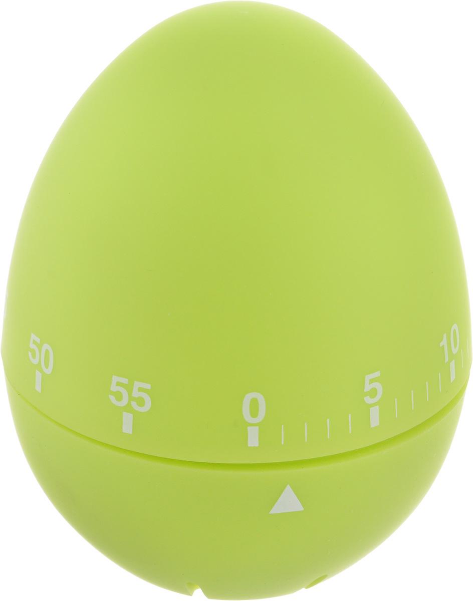 Таймер кухонный Zeller Яйцо, на 60 мин, цвет: салатовыйGL-FD-01RКухонный таймер Zeller Яйцо изготовлен из пластика и металла. Таймер выполнен в виде куриного яйца. Максимальное время, на которое вы можете поставить таймер, составляет 60 минут. После того, как время истечет, таймер громко зазвенит. Оригинальный дизайн таймера украсит интерьер любой современной кухни, и теперь вы сможете без труда вскипятить молоко, отварить пельмени или вовремя вынуть из духовки аппетитный пирог.
