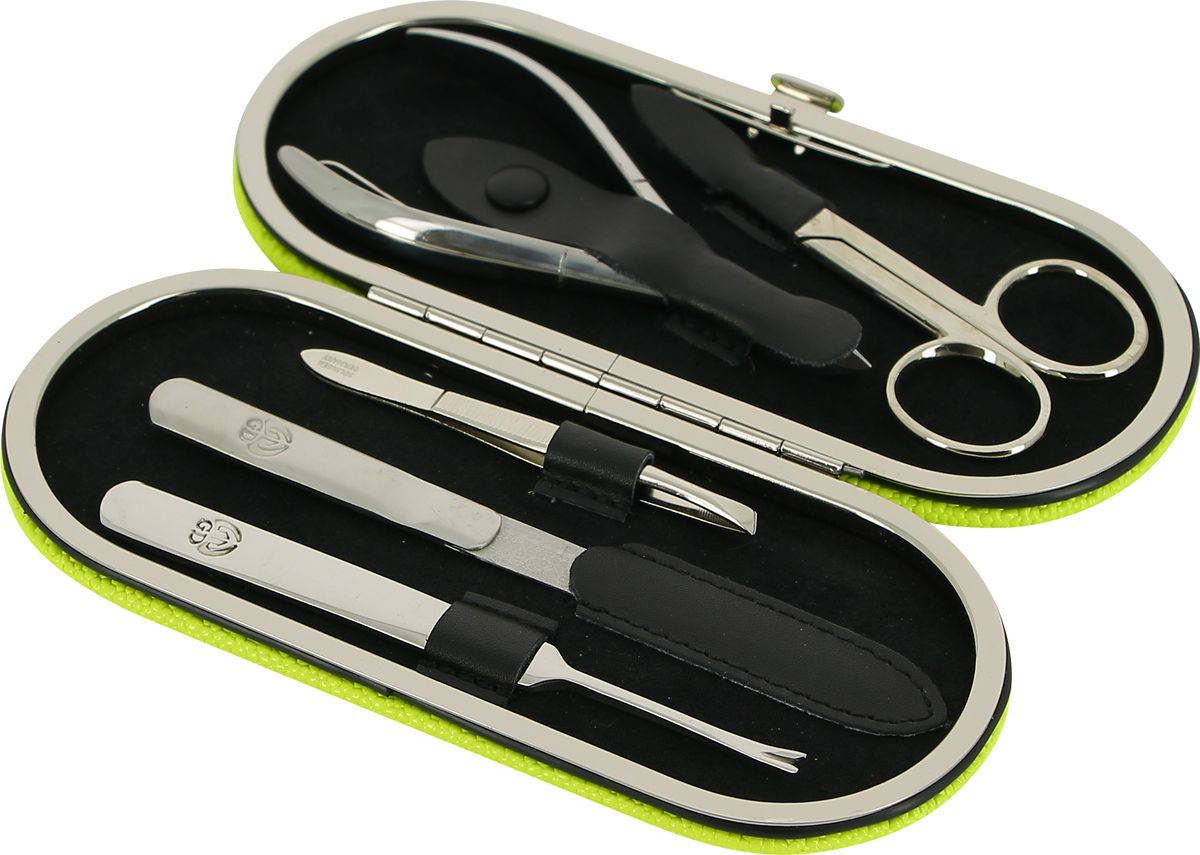 GD Маникюрный набор, цвет: салатовый, 5 предметов + подарок Accentra Snowfall Пена для ванны Starlight, с ароматом кокоса, 255 млSC-FM20104Маникюрный набор GD содержит все необходимые инструменты для профессионального ухода за ногтями. Такой набор станет превосходным подарком для любого человека, следящего за своей внешностью.В набор входят пять предметов: ножницы для ногтей, кусачки для кутикул, металлическая пилка длиной 12 см, наклонный пинцет, удалитель кутикулы. Все инструменты, входящие в набор, изготовлены из первоклассной стали и защищены от коррозии. Футляр маникюрного набора выполнен в классическом стиле и изготовлен из высококачественной натуральной кожи. Такой маникюрный набор позволяет добиться салонного качества маникюра в домашних условиях.Маникюрные наборы под маркой GD несколько отличаются по своему оформлению от того, что мы привыкли называть немецкой классикой. Они сочетают в себе специально подобранную для домашнего использования комплектацию наборов, великолепное качество инструментов из первоклассной стали и широкий выбор расцветок и фактуры футляров из натуральной кожи. Это марка для динамичных, следящих зановымивеяниями моды женщин.Более 15 лет на рынке существует и развивается немецкая торговая марка GD, специализирующаяся на производстве маникюрных наборов и элементов. На российском рынке она уже давно зарекомендовала себя как производитель высококлассных инструментов для маникюра и педикюра, предлагающий свой ассортимент по доступным ценам.Все изделия торговой марки GD производятся только из первоклассной стали со специальными добавками. При производстве чехлов для маникюрных наборов GD используется только натуральная кожа. Каждое изделие имеет красивую и практичную индивидуальную упаковку, выполненную из качественных материалов, благодаря чему набор приобретает еще более привлекательный вид.