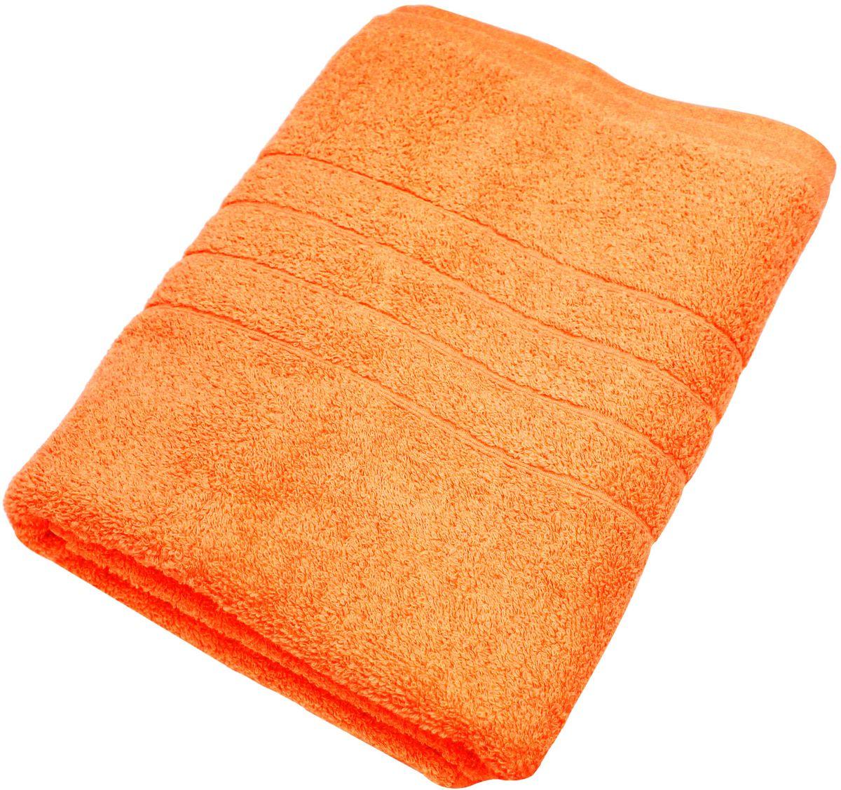 Полотенце Proffi Home Модерн, цвет: оранжевый, 70 x 140 см97775318Мягкое махровое полотенцеProffi Home Модерн отлично впитывает влагу и быстро сохнет, приятно в него завернуться после принятия ванны или посещения сауны. Поэтому данное махровое полотенце можно использовать в качестве душевого, банного или пляжного полотенца. Состав: 100% хлопок.
