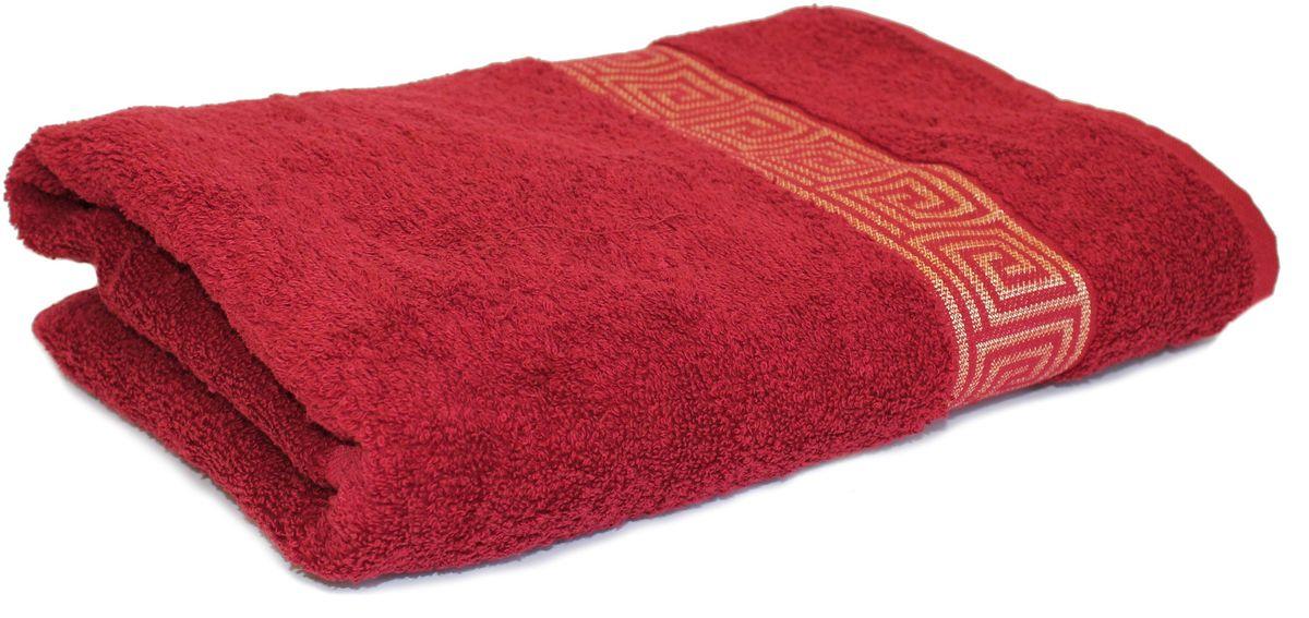 Полотенце Proffi Home Классик, цвет: бордовый, 70 x 140 см68/5/4Махровое полотенце Proffi Home Классик будет приятным добавлением в интерьере ванной комнаты. Мягкое махровое полотенце отлично впитывает влагу и быстро сохнет, приятно в него завернуться после принятия ванны или посещения сауны. Поэтому данное махровое полотенце можно использовать в качестве душевого, банного или пляжного полотенца. Состав: 100% хлопок.
