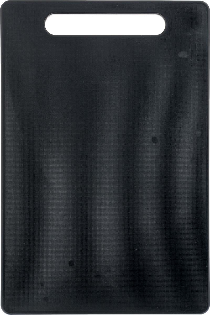 Доска разделочная Kesper, 30 х 20 х 0,8 см391602Доска разделочная Kesper выполнена из качественного пищевого пластика. Прочная структура пластика устойчива к механическим повреждениям, высоким температурам и износу. Доска легко моется, не впитывает запахи и влагу, не растрескивается. Изделие снабжено удобной ручкой. Прекрасно подходит для нарезки любых продуктов.Такая доска понравится любой хозяйке и будет отличным помощником на кухне. Можно мыть в посудомоечной машине.