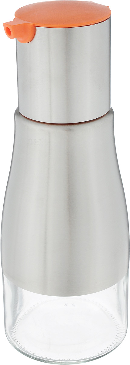Емкость для масла VANI, 230 млVT-1520(SR)Емкость для масла VANI, изготовленная из стекла с обрамлением из нержавеющей стали, будет полезна для каждой хозяйки. Она легка в использовании, стоит только перевернуть ее, и вы с легкостью сможете добавить оливковое, подсолнечное масло, уксус или соус. Крышка плотно прилегает к емкости и не позволит жидкости вытечь. Удобный дозатор поможет аккуратно перелить масло или любую другую жидкость из емкости. Диаметр по верхнему краю: 3,3 см.Высота емкости (без учета крышки): 15 см. Высота емкости с учетом крышки: 19,2 см.