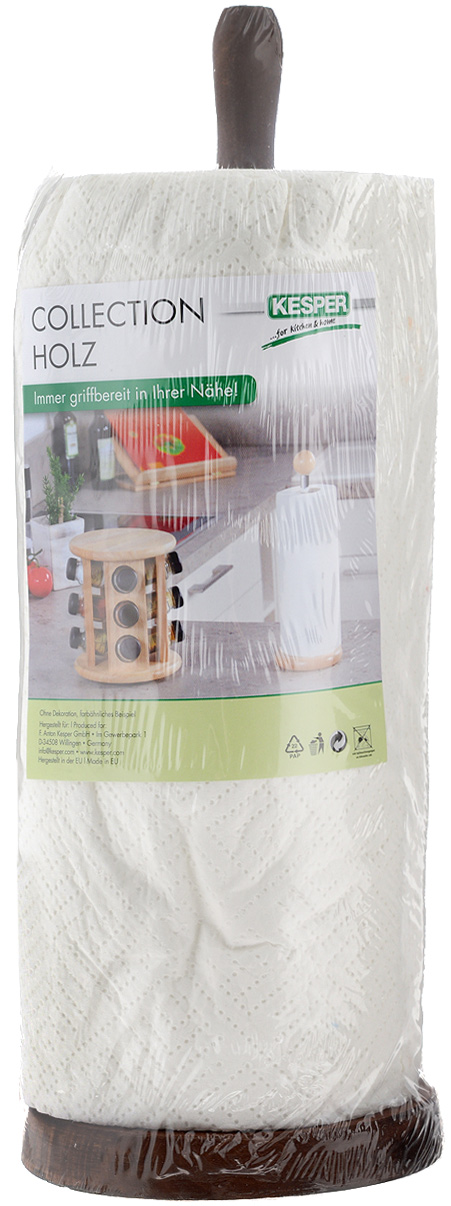 Стойка для бумажных полотенец Kesper, цвет: коричневый, высота 32,5 смVT-1520(SR)Стойка для бумажных полотенец Kesper изготовлена из натурального дерева. Состоит из круглого основания и стержня, на который устанавливается рулон с бумажными полотенцами. Стойка очень удобна в использовании.Оригинальный держатель стильно украсит интерьер кухни и станет аксессуаром, который будет обращать на себя внимание.Рулон бумажных полотенец входит в комплект.Высота стойки: 32,5 см.Диаметр стойки: 11,5 см.