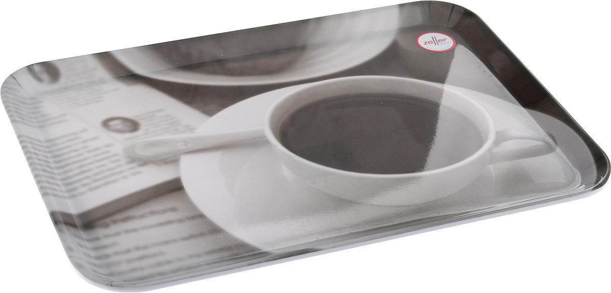 Поднос Zeller, 30,5 х 22 см54 009312Оригинальный поднос Zeller, изготовленный из пластика, станет незаменимым предметом для сервировки стола. Изделие декорировано стильным черно-белым рисунком. Поднос не только дополнит интерьер вашей кухни, но и предохранит поверхность стола от грязи и перегрева. Стильный поднос Zeller придется по вкусу и ценителям классики, и тем, кто предпочитает современный стиль.