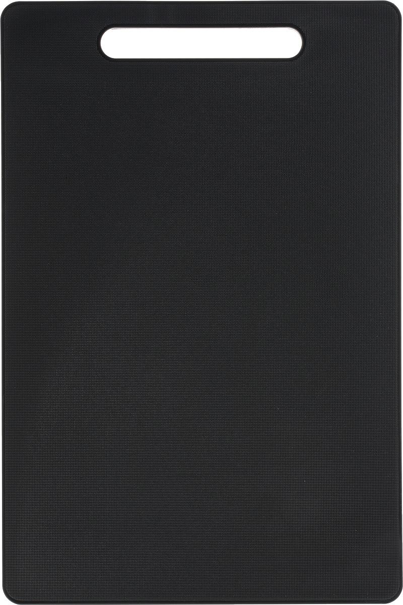 Доска разделочная Kesper, 37 х 25 х 0,8 смМТ76-29_фиолетовыйДоска разделочная Kesper выполнена из качественного пищевого пластика. Прочная структура пластика устойчива к механическим повреждениям, высоким температурам и износу. Доска легко моется, не впитывает запахи и влагу, не растрескивается. Изделие снабжено удобной ручкой. Прекрасно подходит для нарезки любых продуктов.Такая доска понравится любой хозяйке и будет отличным помощником на кухне. Можно мыть в посудомоечной машине.