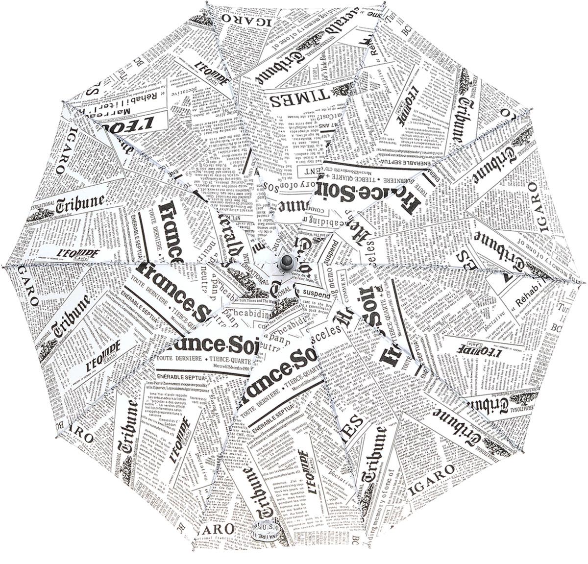 Зонт Эврика, цвет: белый. 96163CX1516-50-10Большой полуавтоматический зонт-трость – это стильный аксессуар, подходящий как дамам, так и джентльменам. Качественный материал купола с влагоотталкивающей пропиткой спасёт от ливня, а крепкие спицы не поддадутся упрямому ветру.Купол зонта выполнен из нейлона, стержень из металла, а ручка из пластика Упаковка: Слюдяной пакет