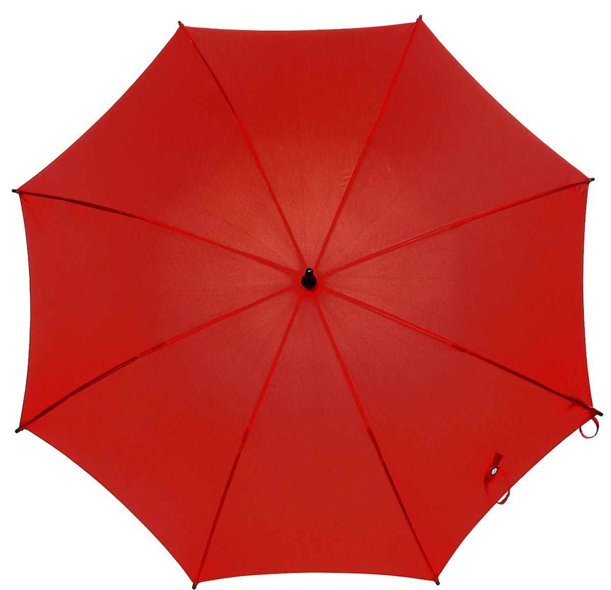 Зонт-трость женский Fulton Kensington, механический, цвет: темно-красный. L776-0258B035000M/18075/3900NМодный механический зонт-трость Fulton Kensington даже в ненастную погоду позволит вам оставаться стильной и элегантной. Каркас зонта состоит из 8 спиц и стержня из фибергласса. Купол зонта выполнен из прочного полиэстера. Изделие оснащено удобной рукояткой из дерева.Зонт механического сложения: купол открывается и закрывается вручную до характерного щелчка.Модель закрывается при помощи двух хлястиков на кнопках.Такой зонт не только надежно защитит вас от дождя, но и станет стильным аксессуаром, который идеально подчеркнет ваш неповторимый образ.
