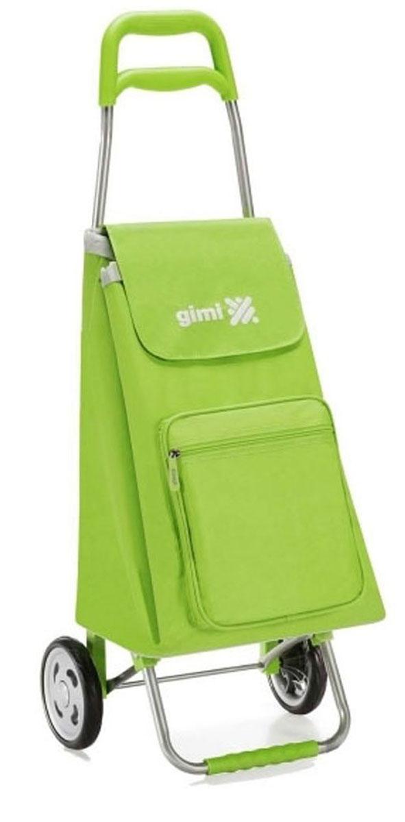 Сумка-тележка Gimi Argo, цвет: зеленый. 155155007000009840-20.000.00Хозяйственная сумка-тележка из полиэстера со стальным каркасом.Сумка водоустойчивая, закрывается на кулиску, оснащена карманом на молнии.