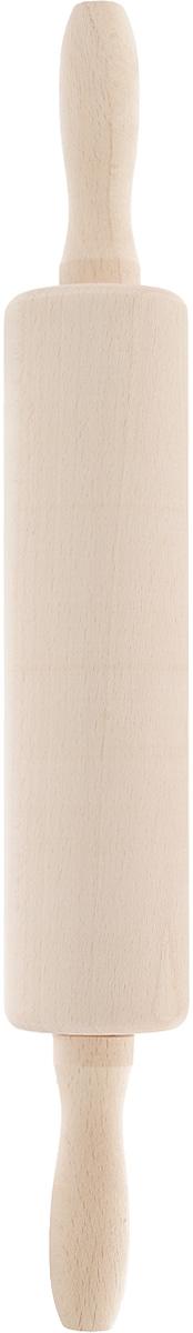 Скалка Kesper, длина 42 смFS-91909Скалка Kesper изготовлена из высококачественного дерева. Изделие оснащено двумя удобными ручками. Такая скалка поможет с легкостью готовить ваши любимые блюда. Длина скалки: 42 см. Длина валика: 23 см. Диаметр валика: 6 см.