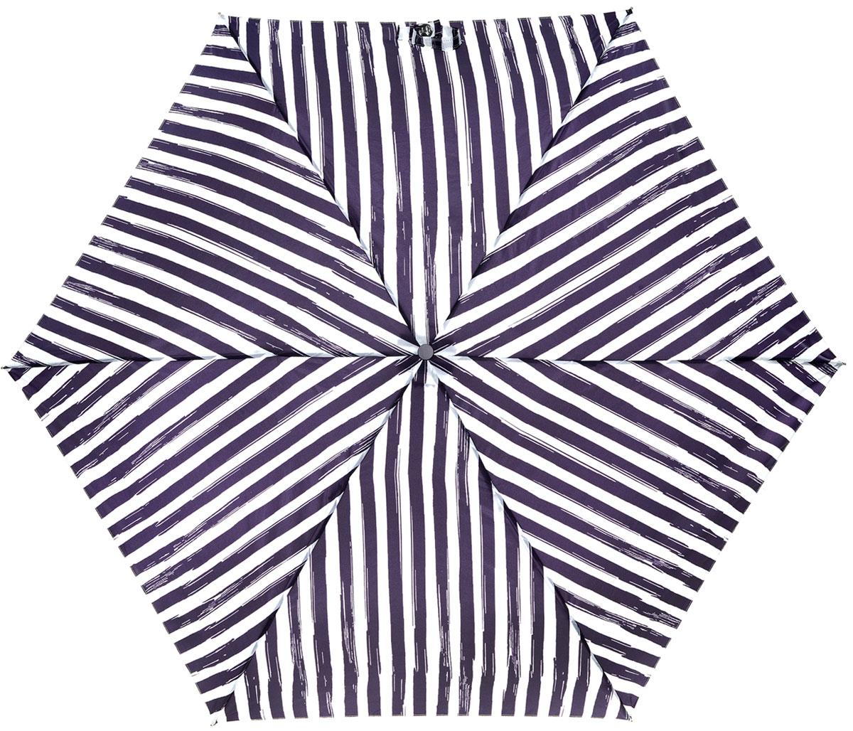 Зонт женский Lulu Guinness Superslim, механический, 3 сложения, цвет: белый, фиолетовый. L718-2786REM12-CAM-GREENBLACKСтильный механический зонт Lulu Guinness Superslim в 3 сложения даже в ненастную погоду позволит вам оставаться элегантной. Облегченный каркас зонта выполнен из 6 спиц из фибергласса и алюминия, стержень также изготовлен из алюминия, удобная рукоятка - из пластика. Купол зонта выполнен из прочного полиэстера. В закрытом виде застегивается хлястиком на кнопке. Яркий оригинальный рисунок в полоску поднимет настроение в дождливый день.Зонт механического сложения: купол открывается и закрывается вручную до характерного щелчка.На рукоятке для удобства есть небольшой шнурок, позволяющий надеть зонт на руку тогда, когда это будет необходимо. К зонту прилагается чехол, который дополнительно застегивается на липучку, с небольшой нашивкой с названием бренда. Такой зонт компактно располагается в кармане, сумочке, дверке автомобиля.