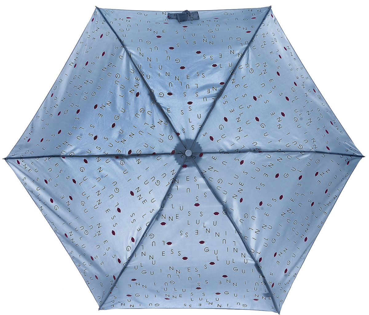 Зонт женский Lulu Guinness Superslim, механический, 3 сложения, цвет: серо-голубой, черный, розовый. L718-3179Колье (короткие одноярусные бусы)Стильный механический зонт Lulu Guinness Superslim в 3 сложения даже в ненастную погоду позволит вам оставаться элегантной. Облегченный каркас зонта выполнен из 6 спиц из фибергласса и алюминия, стержень также изготовлен из алюминия, удобная рукоятка - из пластика. Купол зонта выполнен из прочного полиэстера=. В закрытом виде застегивается хлястиком на кнопке. Яркий оригинальный в виде надписей и изображения губ поднимет настроение в дождливый день.Зонт механического сложения: купол открывается и закрывается вручную до характерного щелчка.На рукоятке для удобства есть небольшой шнурок, позволяющий надеть зонт на руку тогда, когда это будет необходимо. К зонту прилагается чехол, который дополнительно застегивается на липучку, с небольшой нашивкой с названием бренда.Такой зонт компактно располагается в кармане, сумочке, дверке автомобиля.