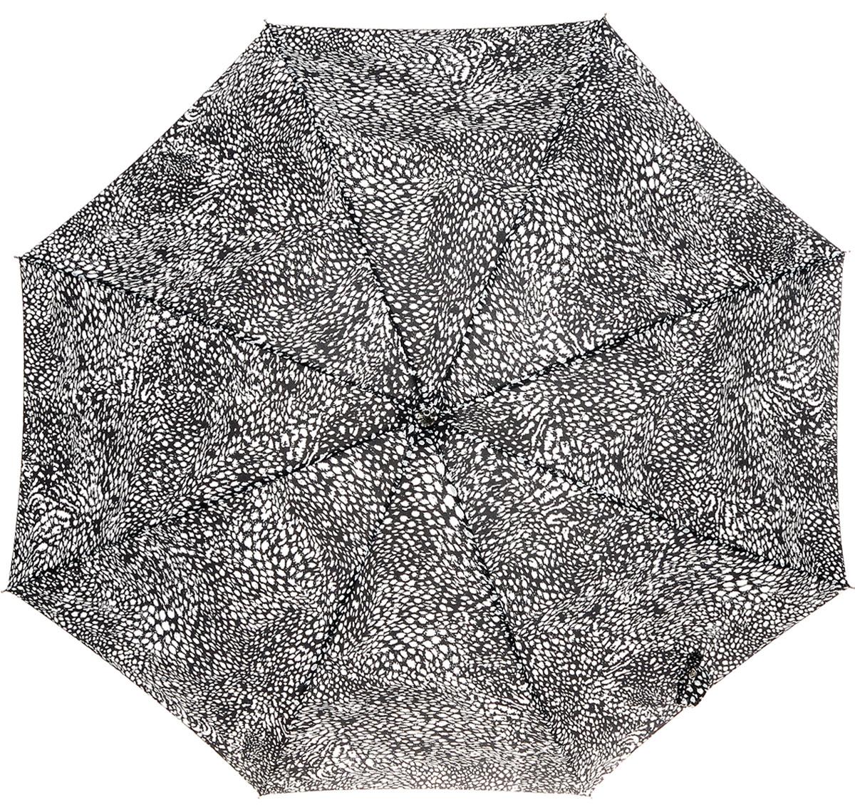 Зонт-трость женский Fulton Eliza, механический, цвет: черный, белый. L600-2632П250070003-9Модный механический зонт-трость Fulton Eliza даже в ненастную погоду позволит вам оставаться стильной и элегантной. Каркас зонта включает 8 спиц из фибергласса. Стержень изготовлен из стали. Купол зонта выполнен из прочного полиэстера и оформлен принтом в виде мелких пятнышек. Изделие дополнено удобной рукояткой из пластика.Зонт механического сложения: купол открывается и закрывается вручную до характерного щелчка. Модель застегивается с помощью хлястика на кнопку.Такой зонт не только надежно защитит вас от дождя, но и станет стильным аксессуаром, который идеально подчеркнет ваш неповторимый образ.