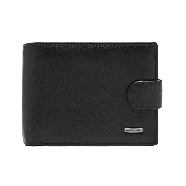Портмоне Malgrado, цвет: черный. 35027-3-55D1-022_516Универсальное портмоне Malgrado изготовлено из натуральной кожи черного цвета. Внутри содержит три отделения для купюр, одно из которых на молнии, семь дополнительных кармашков для кредитных карт и мелочей, кармашек для мелочи на кнопке, потайной кармашек на молнии, три пластиковых кармашка для проездного, пропуска или фотографии. Закрывается портмоне хлястиком на кнопке.Благодаря насыщенному черному цвету и лаконичному дизайну, такое портмоне подойдет любителям классических аксессуаров. Характеристики:Материал: натуральная кожа, пластик. Размер портмоне: 13 см х 9 см х 2,5 см. Цвет: черный.Размер упаковки:14,5 см х 10,5 см х 3,5 см. Артикул: 35027-3-55D.