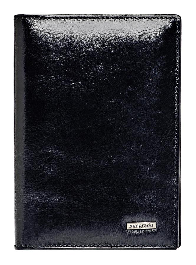 Обложка для паспорта Malgrado, цвет: черный. 54019-1-64D BlackBM8434-58AEОбложка для паспорта Malgrado выполнена из высококачественной натуральной кожи черного цвета с логотипом фирмы. Внутри пять кармашков для визиток и шесть пластиковых файлов для авто-документов.Эта элегантная обложка непременно подойдет к вашему образу и порадует простотой, стилем и функциональностью. Обложка для паспорта упакована в коробку из плотного картона с логотипом фирмы. Характеристики: Материал: натуральная кожа, текстиль.Размер обложки в сложенном виде: 13,5 см х 10 см х 0,5 см.Размер обложки в раскрытом виде: 20 см х 13,5 см.