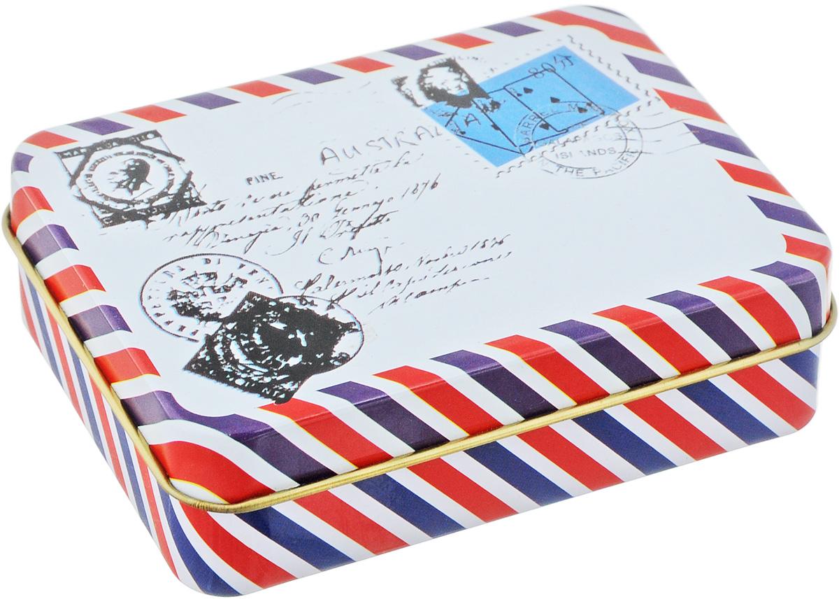 Шкатулка декоративная Феникс-Презент Письмо, 9 х 6,5 х 2,7 смFS-80418Шкатулка декоративная Феникс-Презент Письмо изготовлена из черного окрашенного металла. В такой шкатулке удобно хранить различные мелочи и безделушки, а также конфетки-драже, аксессуары для шитья, бижутерию и многое другое. Такая шкатулка станет отличным сувениром для ваших друзей и близких.