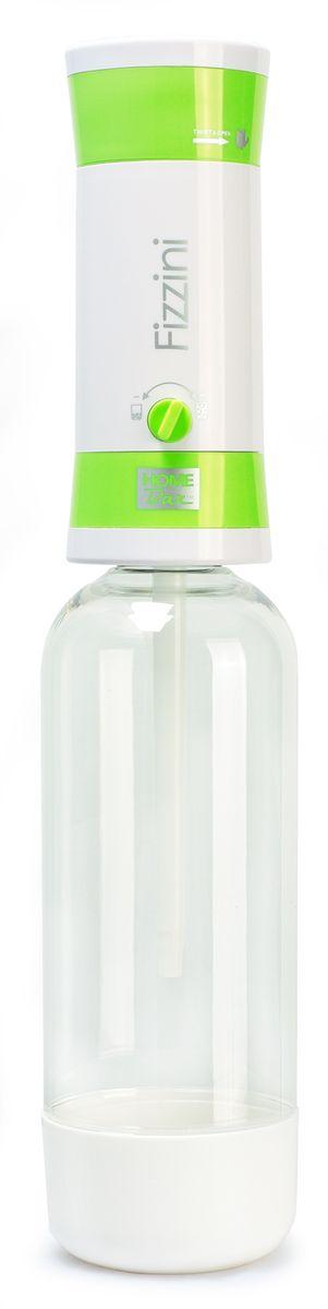 Набор для газирования воды Home Bar Fizzini NG, цвет: зеленый, белый, прозрачный, 11 предметовfiZZini NG greenНабор Home Bar Fizzini NG, выполненный из пластика, состоит из сифона и 10 баллонов. Он предназначен для газирования чистой охлажденной воды. Не требует электроэнергии. Для приготовления напитка сироп рекомендуется наливать в отдельную емкость. Сифон снабжен ручкой для регулирования насыщенности газа и двойной защитой (предохранительный клапан и кнопка сброса давления). Рекомендуемая температура воды 5°С. Подходит для 1 л и 1,5 л бутылки. Комплект: Сифон, баллоны 8 г / 10 шт. Объем сифона: 1 л. Баллон: 10 шт. Вес баллона: 8 г.