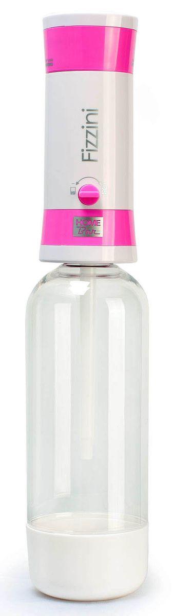 Набор для газирования воды Home Bar Fizzini NG, цвет: розовый, белый, прозрачный, 11 предметовVT-1520(SR)Набор Home Bar Fizzini NG, выполненный из пластика, состоит из сифона и 10 баллонов. Он предназначен для газирования чистой охлажденной воды. Не требует электроэнергии. Для приготовления напитка сироп рекомендуется наливать в отдельную емкость. Сифон снабжен ручкой для регулирования насыщенности газа и двойной защитой (предохранительный клапан и кнопка сброса давления). Рекомендуемая температура воды 5°С. Подходит для 1 л и 1,5 л бутылки. Комплект: Сифон, баллоны 8 г / 10 шт. Объем сифона: 1 л. Баллон: 10 шт. Вес баллона: 8 г.