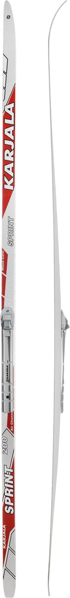 Лыжи беговые Karjala Sprint Step, с креплением NNN, цвет: белый, серый, красный, рост 200 смN90915Беговые лыжи Karjala Sprint Step предназначены для активного катания и прогулок по лыжне классическим стилем. Технология CAP позволяет увеличить прочность лыж, их долговечность и надежность. Обеспечивает большую жесткость на скручивание и облегченный вес. Сердечник изготовлен из дерева. Скользящая поверхность - экструдированый полиэтилен низкого давления ПЭНД, обладающий высокой степенью защиты от царапин и вмятин. Крепления изготовлены из морозоустойчивого пластика и стали. Имеют автоматическое пристегивание. Флексор жесткости заменяем. Две направляющие.Геометрия: 46-46-46.Рост: 200 см.