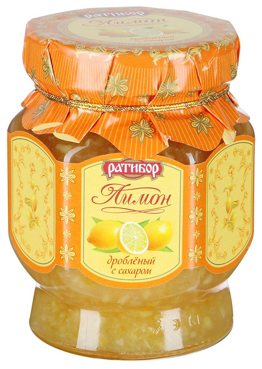 Ратибор лимон дробленый с сахаром, 365 г5326Лимон дробленый с сахаром готовится без добавления консервантов. Благодаря уникальной технологии производства сохранены витамины и целебные свойства лимона. Чашечка чая с таким десертом - прекрасное начало дня, легкий полдник, фруктовое угощение для коллег и друзей.