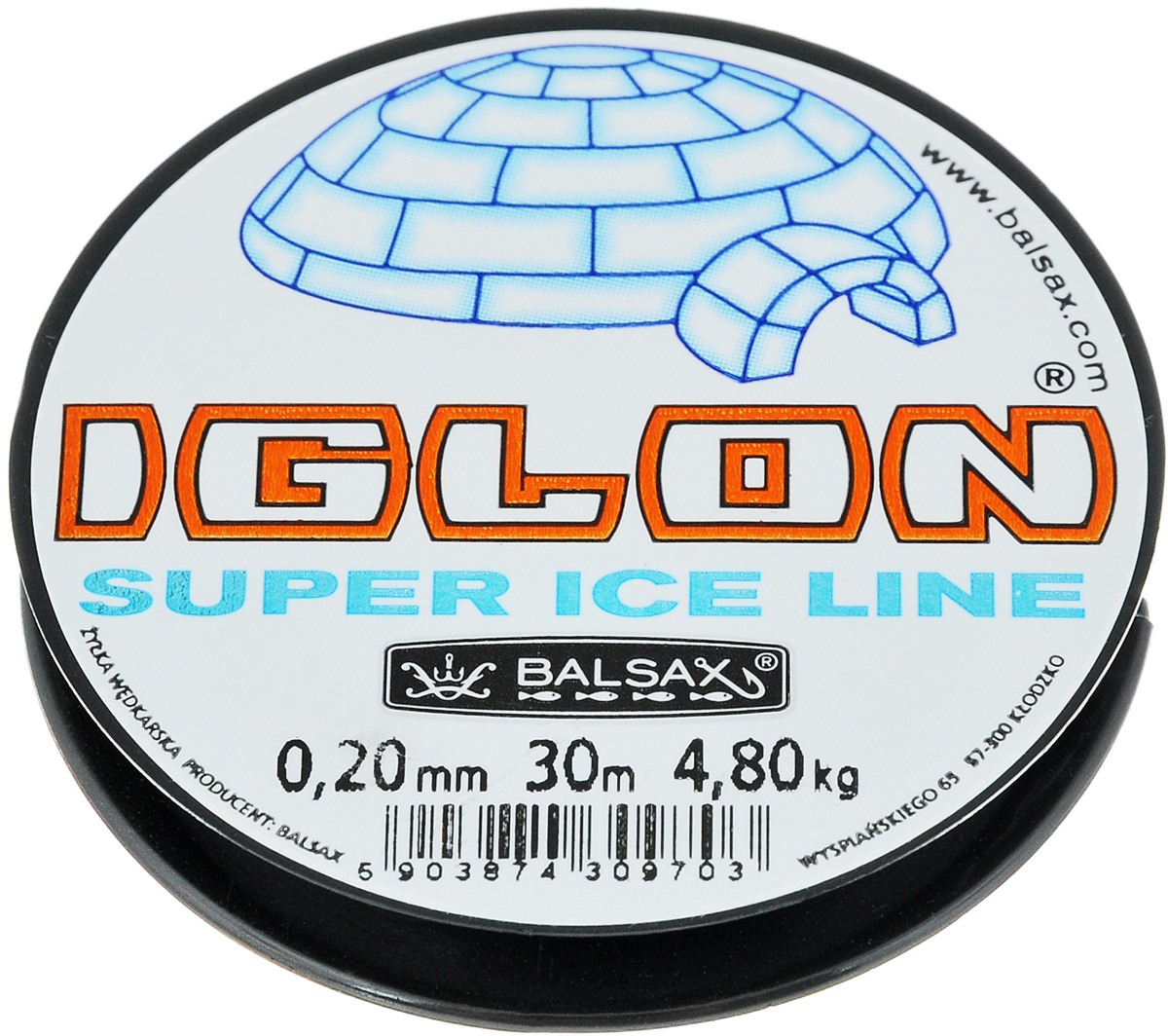 Леска зимняя Balsax Iglon, 30 м, 0,20 мм, 4,8 кг310-07014Леска зимняя Balsax Iglon изготовлена из 100% нейлона и очень хорошо выдерживает низкие температуры. Даже в самом холодном климате, при температуре вплоть до -40°C, она сохраняет свои свойства практически без изменений, в то время как традиционные лески становятся менее эластичными и теряют прочность.Поверхность лески обработана таким образом, что она не обмерзает и отлично подходит для подледного лова. Прочна в местах вязки узлов даже при минимальном диаметре.