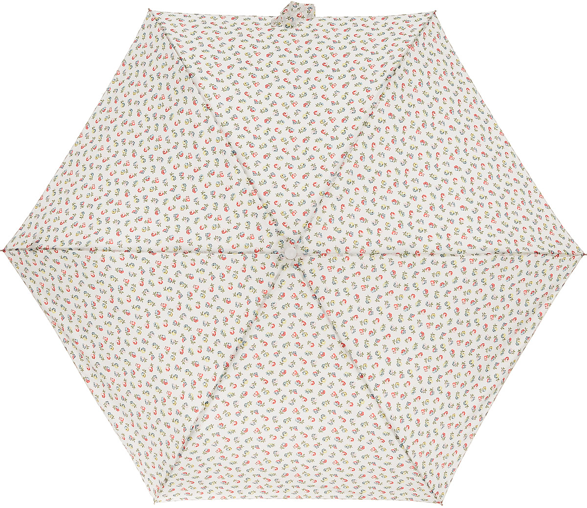 Зонт женский Cath Kidston Minilite, механический, 3 сложения, цвет: молочный, мультиколор. L768-2851REM12-CAM-REDBLACKСтильный механический зонт Cath Kidston Minilite в 3 сложения даже в ненастную погоду позволит вам оставаться элегантной. Облегченный каркас зонта выполнен из 8 спиц из фибергласса и алюминия, стержень также изготовлен из алюминия, удобная рукоятка - из пластика. Купол зонта выполнен из прочного полиэстера. В закрытом виде застегивается хлястиком на липучке. Яркий оригинальный цветочный принт поднимет настроение в дождливый день.Зонт механического сложения: купол открывается и закрывается вручную до характерного щелчка.На рукоятке для удобства есть небольшой шнурок, позволяющий надеть зонт на руку тогда, когда это будет необходимо. К зонту прилагается чехол с небольшой нашивкой с названием бренда. Такой зонт компактно располагается в кармане, сумочке, дверке автомобиля.