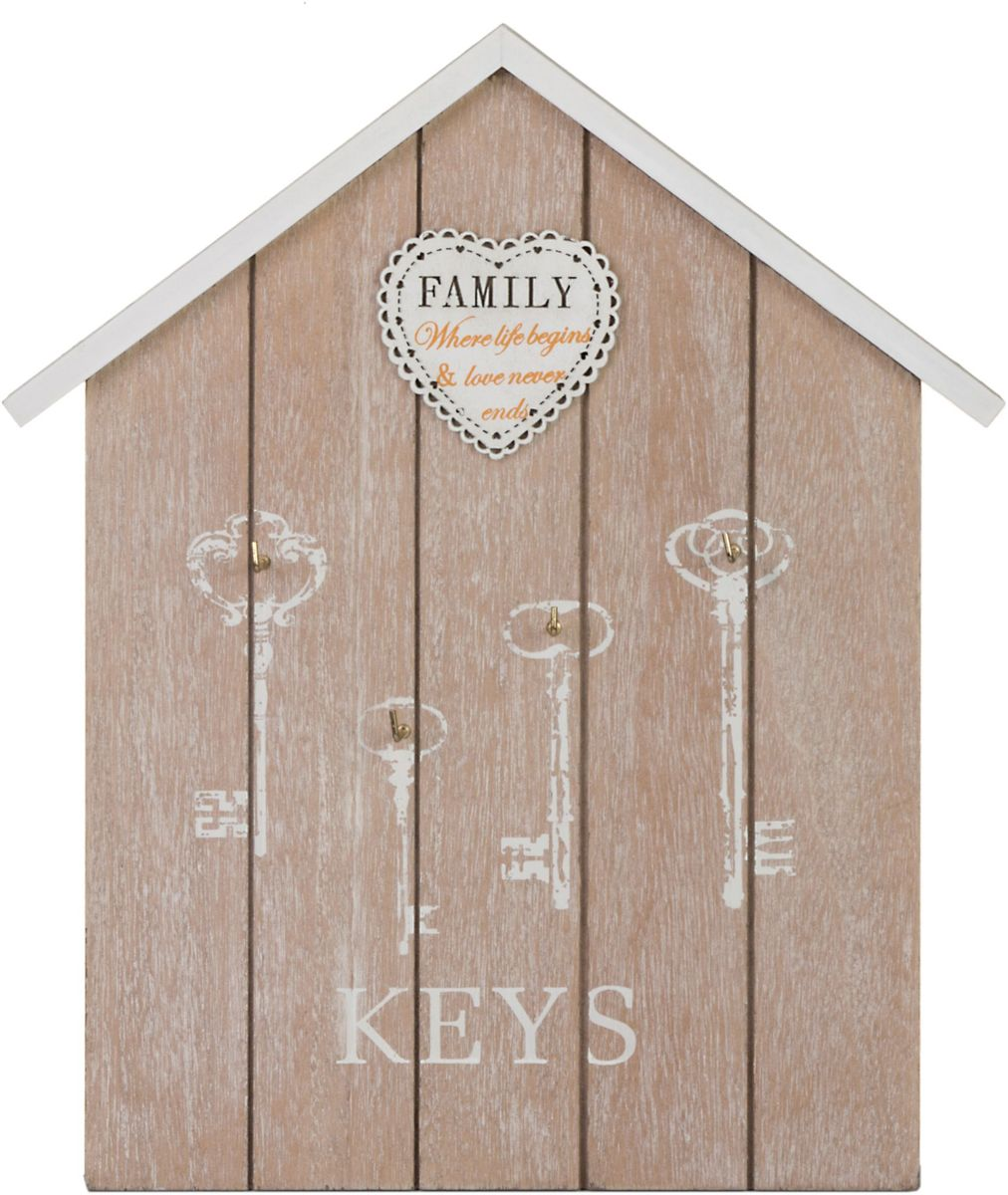 Ключница Miralight Домик, цвет: коричневый. ML-4090ML-4090 Ключница Домик