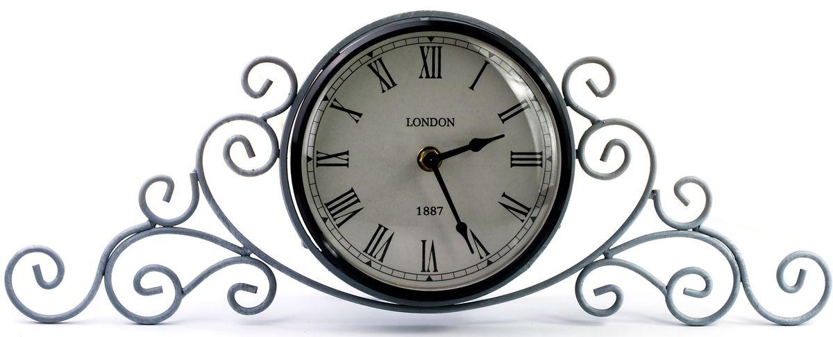 Часы настольные Miralight, цвет: серый. ML-511194672Настольные часы Miralight, изготовленные из металла, прекрасно украсят интерьер вашего помещения. Часы, выполненные в модном стиле ретро, имеют кованую ажурную подставку для удобного размещения на столе и массивный металлический корпус. Состаренный циферблат круглой формы имеет две стилизованные фигурные стрелки: часовую и минутную и элегантные римские цифры.Питание осуществляется от одной батарейки типа АА (не входит в комплект). Оформите свой дом таким интерьерным аксессуаром или преподнесите его в качестве презента друзьям, и они оценят ваш оригинальный вкус и неординарность подарка.