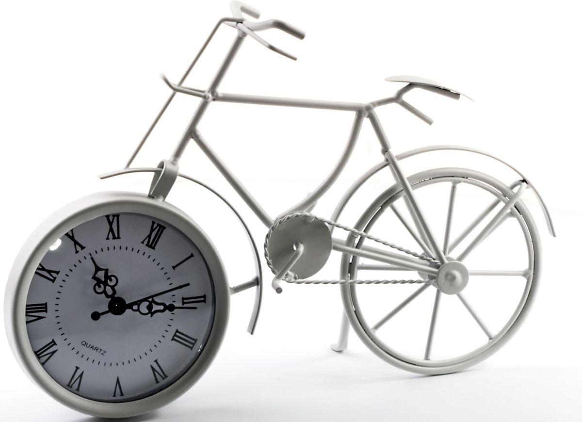 Часы настольные Miralight Велосипед, цвет: белый. ML-5388ML-5388 White Часы настольные Велосипед белый