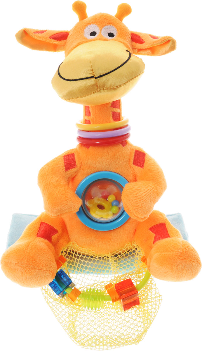WeeWise Развивающая игрушка для прогулочной коляски Жираф weewise развивающая музыкальная дуга джунгли
