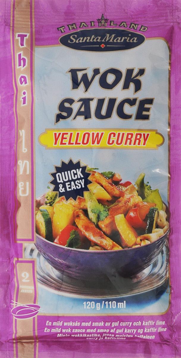 Santa Maria соус желтый карри для вок-блюд, 120 г0120710Этот мягкий соус Santa Maria из смеси специй с ароматом листьев лайма подходит для приготовления вок-блюд из курицы и говядины, рыбы и морепродуктов, а также любого вида вегетарианских блюд.Уважаемые клиенты! Обращаем ваше внимание, что полный перечень состава продукта представлен на дополнительном изображении.