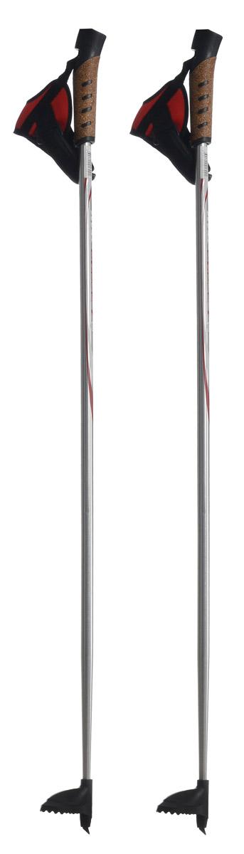 Палки лыжные Larsen Team, алюминиевые, длина 100 смS23513Спортивные палки Larsen Team - это превосходный выбор для любителей активного катания на лыжах. Модель выполнена из легкого алюминия. Рукоятка выполнена из синтетической пробки и полипропилена, она имеет удобный хват, рука не мерзнет и не скользит по ручке. Гоночный темляк с конструкцией капкан удобно надевается и надежно поддерживает кисть. Облегченная лапка с твердосплавным наконечником не проваливается в снег.Спортивные палки подойдут как начинающим лыжникам, так и опытным спортсменам.Длина палок: 100 см.