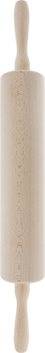 Скалка Kesper, длина 57 см68/5/3Скалка Kesper, выполненная из высококачественной древесины, предназначена для раскатывания теста. Изделие имеет особо легкий ход благодаря шарикоподшипникам и сквозной металлической оси. Эргономичные подвижные ручки и вращающийся валик делают работу быстрой и приятной. Теперь вам не потребуется прилагать много усилий, чтобы раскатать тесто. Общая длина скалки (с ручками): 57 см. Длина валика: 33 см. Диаметр валика: 7,5 см.