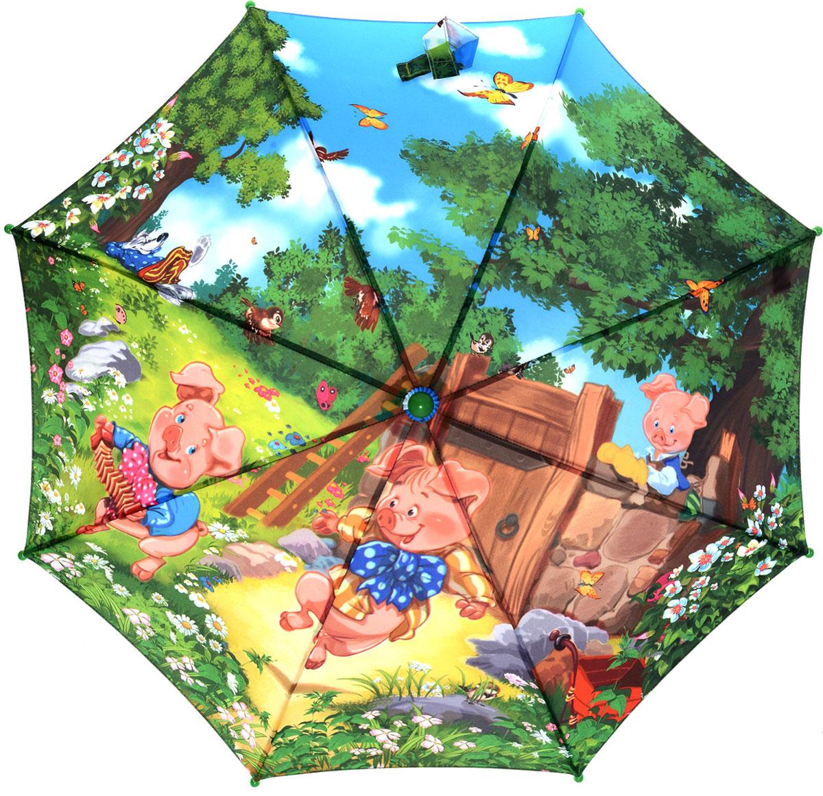 Зонт детский Zest, цвет: зеленый, розовый. 21665-05REM12-CAM-GREENBLACKКрасочный детский зонт ZEST сделан из стали и полиэстера, обработанного водоотталкивающей пропиткой. Зонт оформлен принтом с рисунками из известнейших сказок.Зонт оснащен полуавтоматическим механизмом. Пластиковая ручка соответствует требований эргономики. К зонту прилагается чехол.Детский зонт ZEST защитит от дождя и подарит улыбку вашему малышу.