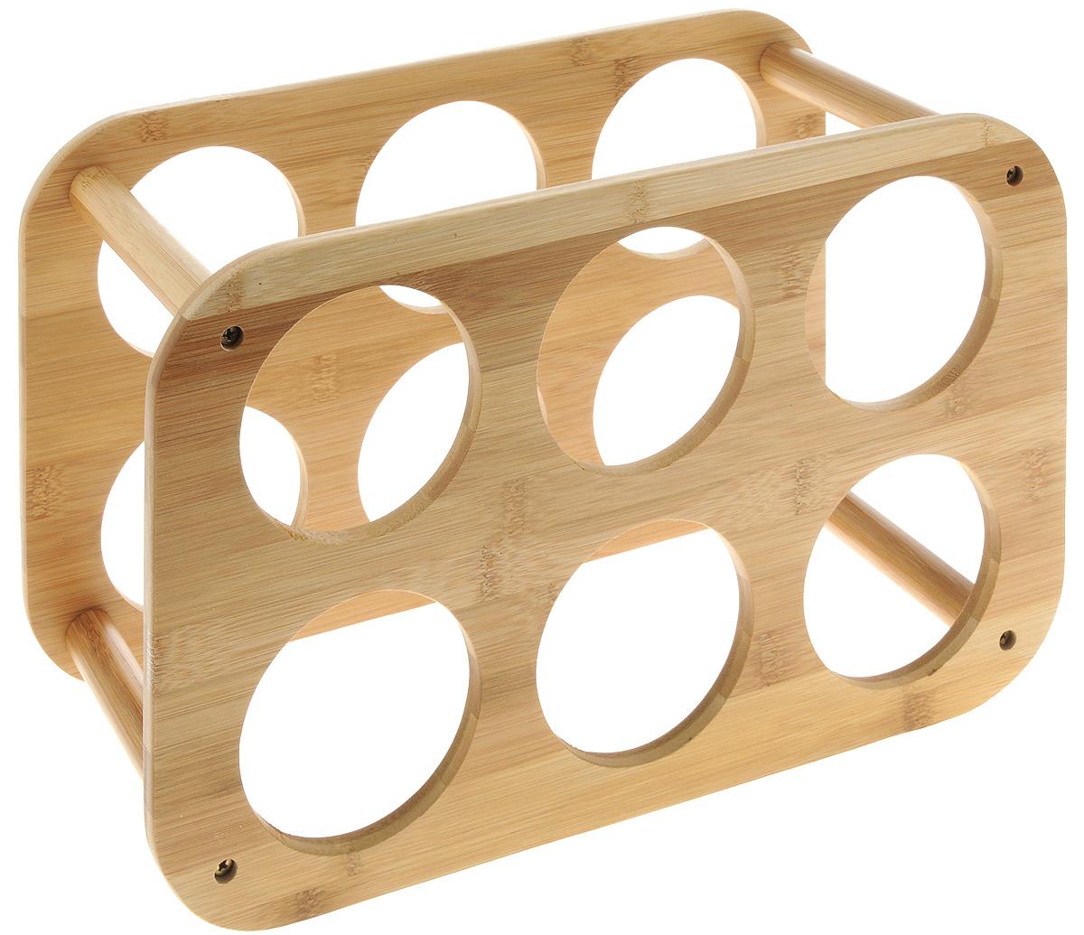 Подставка для бутылок Zeller, 38 х 16 х 24 см82_морские водорослиПодставка для бутылок Zeller служит для размещения 6 винных или пивных бутылок. Изготовлена из качественного бамбука. Устойчивая форма, удобство, надежная конструкция - все это делает подставку надежным и практичным аксессуаром. Кроме того, такая подставка стильно дополнит кухонный интерьер. Подставка поставляется в разобранном виде. Легко собирается (инструкция в картинках в комплекте).Диаметр отверстия для бутылки: 9 см.