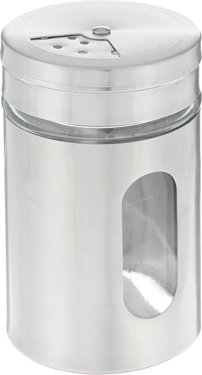 Емкость для специй Zeller. 19961AVCARN71001Емкость для специй Zeller создана для того, чтобы сохранить вкус и свежесть специй максимально долго. Банка выполнена из качественного стекла и нержавеющей стали, закрывается прочной вращающейся крышкой, благодаря чему специи всегда будет оставаться сухими и свежими. Крышка снабжена отверстиями разного диаметра. Емкость для специй Zeller станет превосходным декоративным элементом на вашей кухне и прекрасным подарком любой хозяйке.