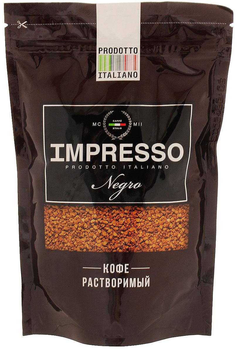 Impresso Negro кофе растворимый, 100 г84593Impresso Negro - настоящий итальянский кофе, который восхищает полнотой вкуса и быстротой приготовления. Лучшие сорта арабики из Бразилии, Коста-Рики, Никарагуа, Мексики и Ямайки вошли в купаж Impresso, чтобы подарить миру кофе исключительного качества. Чтобы добавить оттенков вкусу Impresso, кофейные зерна прошли обжарку на медленном огне на старинном кофейном производстве, расположенном в высокогорье Альп. Именно поэтому растворимый Impresso раскрывает натуральный вкус итальянского кофе во всей его полноте.
