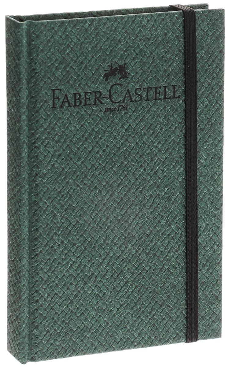 Faber-Castell Блокнот Бамбук 50 листов в линейку цвет темно-зеленый96674СБлокнот Faber-Castell Бамбук - незаменимый атрибут современного человека, необходимый для рабочих и повседневных записей в офисе и дома.Обложка блокнота выполнена из картона и оформлена надписью бренда. Внутренний блок состоит из 50 листов бумаги. Стандартная линовка в серую линейку без полей. Листы блокнота надежно сшиты. Блокнот фиксируется при помощи резинки, имеет ляссе.