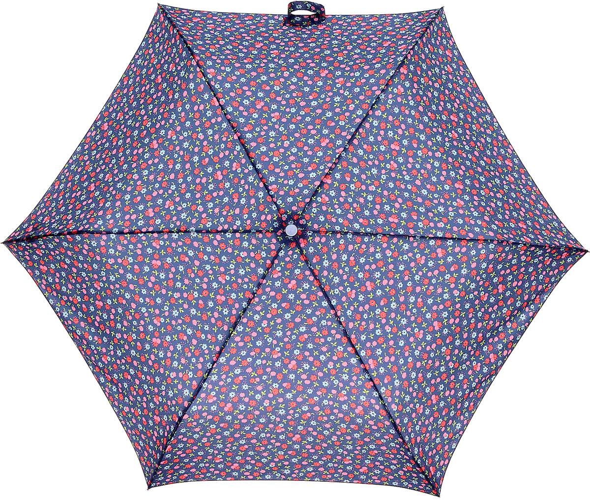 Зонт женский Cath Kidston Minilite, механический, 3 сложения, цвет: фиолетовый, мультиколор. L768-2945Бусы-ошейникСтильный механический зонт Cath Kidston Minilite в 3 сложения даже в ненастную погоду позволит вам оставаться элегантной. Облегченный каркас зонта выполнен из 8 спиц из фибергласса и алюминия, стержень также изготовлен из алюминия, удобная рукоятка - из пластика. Купол зонта выполнен из прочного полиэстера. В закрытом виде застегивается хлястиком на липучке. Яркий оригинальный цветочный принт поднимет настроение в дождливый день.Зонт механического сложения: купол открывается и закрывается вручную до характерного щелчка.На рукоятке для удобства есть небольшой шнурок, позволяющий надеть зонт на руку тогда, когда это будет необходимо. К зонту прилагается чехол с небольшой нашивкой с названием бренда. Такой зонт компактно располагается в кармане, сумочке, дверке автомобиля.