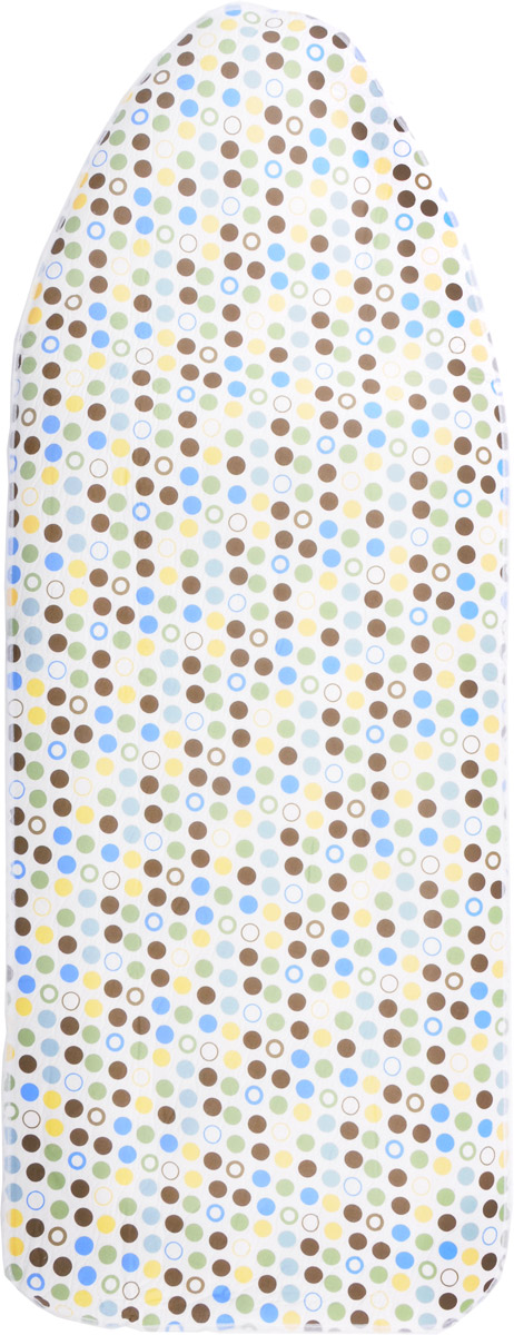 """Чехол для гладильной доски """"Paterra"""", с поролоном, цвет: кремовый, зеленый, черный, 146 х 55 см"""