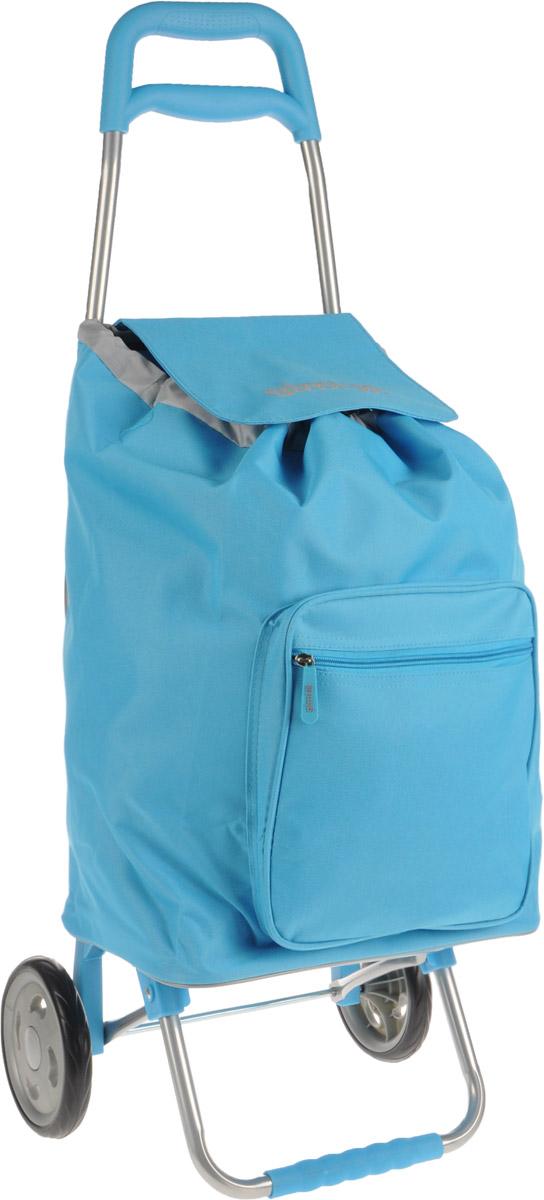Сумка-тележка Gimi Argo, цвет: голубой, 45 лGC013/00Хозяйственная сумка-тележка Gimi Argo выполнена из высококачественного полиэстера со стальным каркасом. Она оснащена одним вместительным отделением, закрывающимся на шнурок. Снаружи имеется карман на застежке-молнии. Сумка водоустойчива, оснащена парой колес, которые обеспечивают удобство транспортировки. Для компактного хранения сумку можно сложить. Максимальная нагрузка: 30 кг.