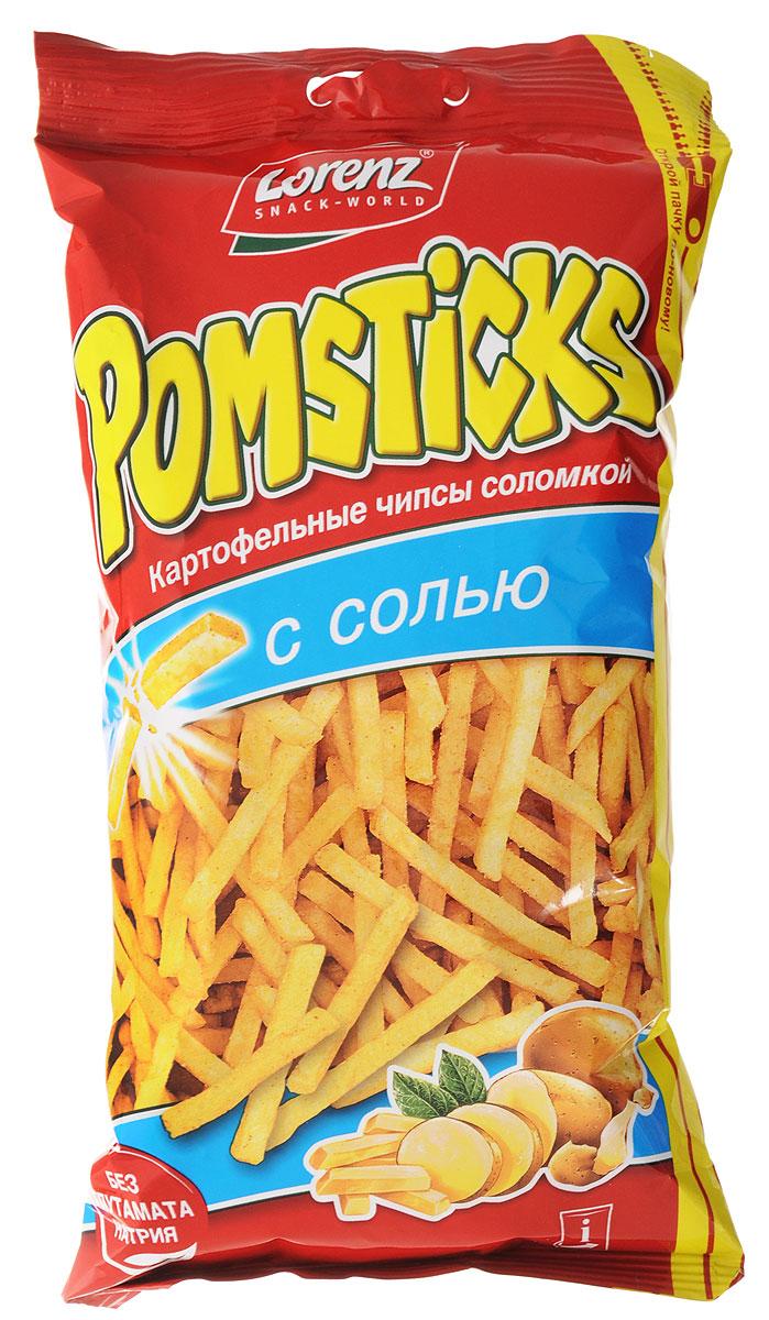 Lorenz Pomsticks картофельные чипсы с солью, 100 г0120710Отборный цельный картофель нарезается тончайшей соломкой и обжаривается до золотистой корочки. Lorenz Pomsticks - слегка приправленная солью картофельная соломка!Уважаемые клиенты! Обращаем ваше внимание, что полный перечень состава продукта представлен на дополнительном изображении.