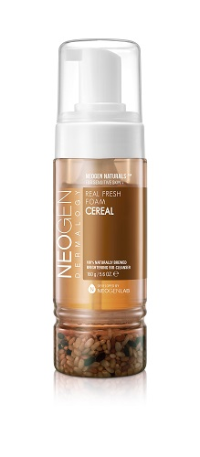 Neogen Dermalogy Пенка для умывания со злаками способствует омоложению и ревитализации кожи Real Fresh Foam Cereal 160гAC-2233_серыйСозданная по уникальной технологии, пенка для умывания маскимально обогащена полезными компонентами, обеспечивая качественное и бережное очищение кожи. Обладая натуральным составом, идеально подходит для ежедневного ухода, поддерживая кожу увлажненной и смягченной. Формула с ферментированным экстрактом риса направлена на выравнивание цвета кожи, омоложение и ревитализацию. Инновационная рецептура содержит в основе рисовую воду (экстракт семян риса) вместо обычной воды, а также включает комплекс растительных экстрактов, гиалуроновую кислоту и другие ухаживающие высококачественные компоненты. Не содержит парабены, сульфаты, минеральное масло и другие потенциально опасные ингредиенты. Подходит для всех типов кожи, в том числе с пигментацией.