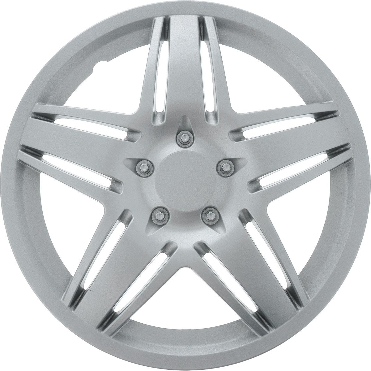 Колпак защитный Phantom Стар, R15 , декоративный, 1 шт. PH5766K100Колпак Phantom Стар предназначен для защиты колесного диска и тормозной системы от загрязнений, а также для декоративного украшения автомобиля.Колпак изготовлен из высококачественного масло-бензостойкого пластика, а крепление в виде распорного кольца - из металла.Размер колеса: R15.Диаметр колпака: 41,5 см.