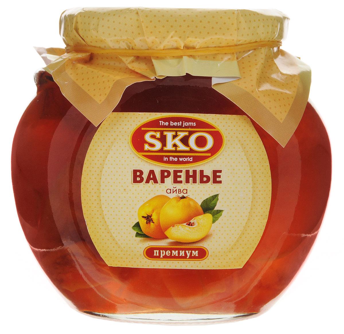 SKO варенье из айвы, 400 г11002Варенье из айвы SKO - армянское варенье, приготовленное по домашним рецептам и современным технологиям, не содержит пектина. Может использоваться для приготовления пирогов, тортов и других разнообразных десертов, а также в качестве самостоятельного лакомства.Варенье из айвы обладает общеукрепляющими, кровоостанавливающими, антисептическими, мочегонными и вяжущими свойствами и применяется при малокровии, сердечно-сосудистых заболеваниях, заболеваниях желудочно-кишечного тракта, дыхательных путей, астме. Из вкусного варенья готовят начинку в пирожки.