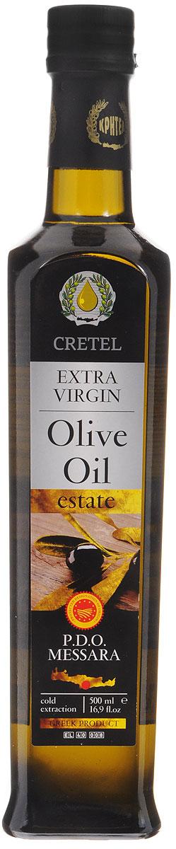 Cretel Extra Virgin масло оливковое P.D.O. Messara, 500 мл0120710Оливковое масло Cretel Extra Virgin. P.D.O. Messara - это уникальный продукт авторского права, который закрепляет за производителем право гарантированный регион производства, с информацией на упаковке о конкретном районе производства, в данном случае, в районе Мессара, на о. Крит (Греция). Оливки были выращены, собраны и отжаты в масло полностью в определенном географическом регионе. Весь процесс изготовления этого масла, как говорилось выше, производится на месте сбора сырья. Маркировка дает гарантию потребителю, что масло не является ни в коем случае смесью масел. Один из главных показателей качества оливкового масла - кислотность, она составляет 0,3-0,6%.