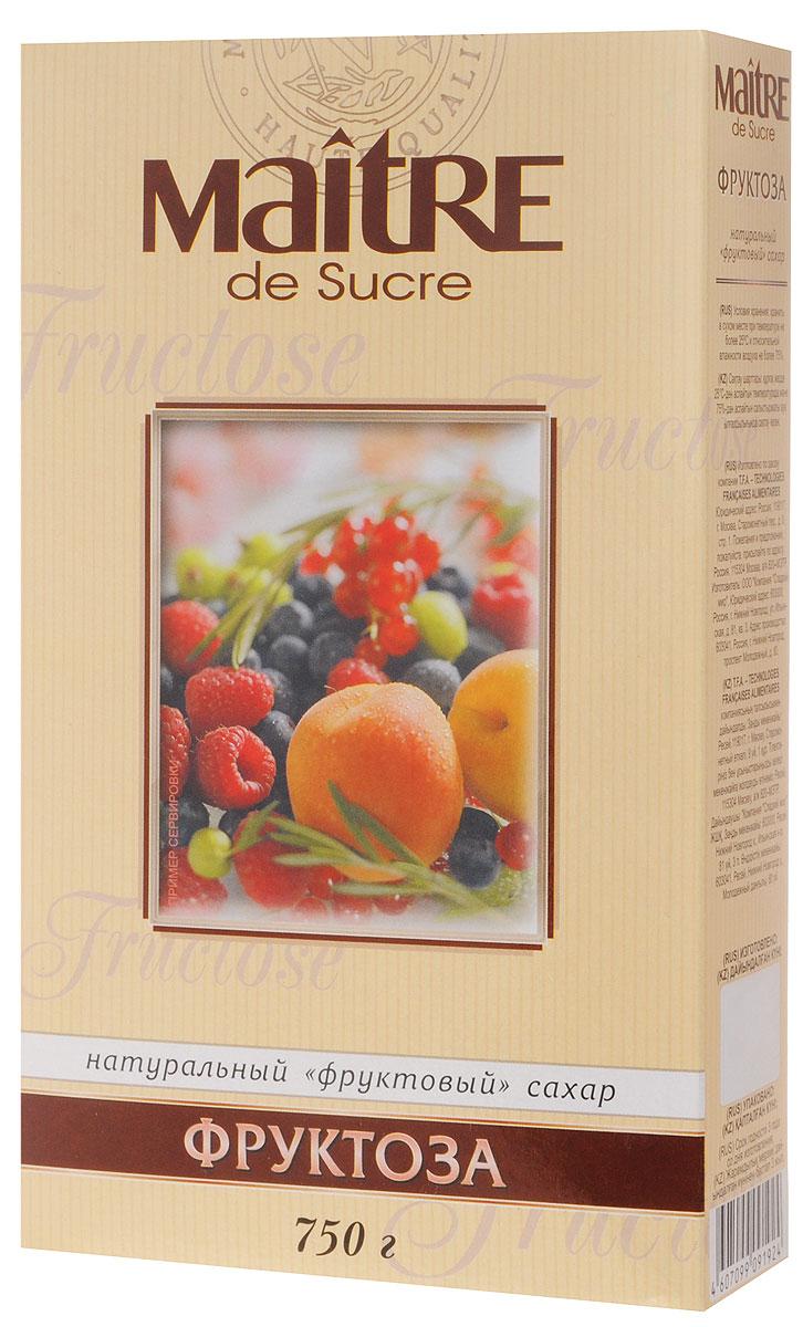 Maitre de Sucre фруктоза, 750 г0120710Фруктоза Maitre de Sucre - это натуральный фруктовый сахар. Может быть использована в качестве замены сахара в диетическом питании.Не содержит консервантов и ароматизаторов. Усиливает аромат ягод и фруктов. Слаще сахара в 1,5 раза. Фруктоза может применяться в домашней кулинарии.Рекомендуемое суточное потребление 35-45 грамм.