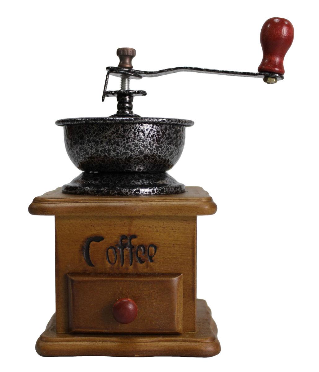 Кофемолка N/N, с деревянным основанием115510Деревянная ручная кофемолка с металлическим механизмом, чугунными жерновами и регулировкой помола. Ручная кофемолка сохраняет кофе более ароматным. Выполнена в элегантном дизайне, прекрасно подойдет в качестве подарка.