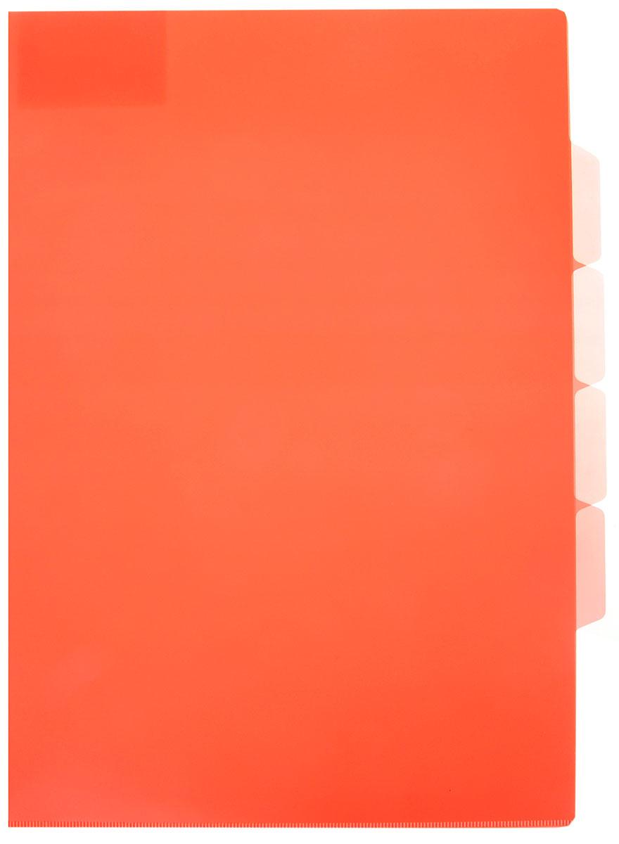 Бюрократ Папка-уголок цвет коралловый816882_желтыйПапка-уголок Бюрократ станет вашим надежным помощником в учебных или офисных делах.Папка-уголок формата А4 изготовлена из прочного полипропилена. Она имеет три отделения для размещения бумаг с разделителями для маркировки.Такой аксессуар всегда будет сохранять ваши документы в опрятном и чистом виде.