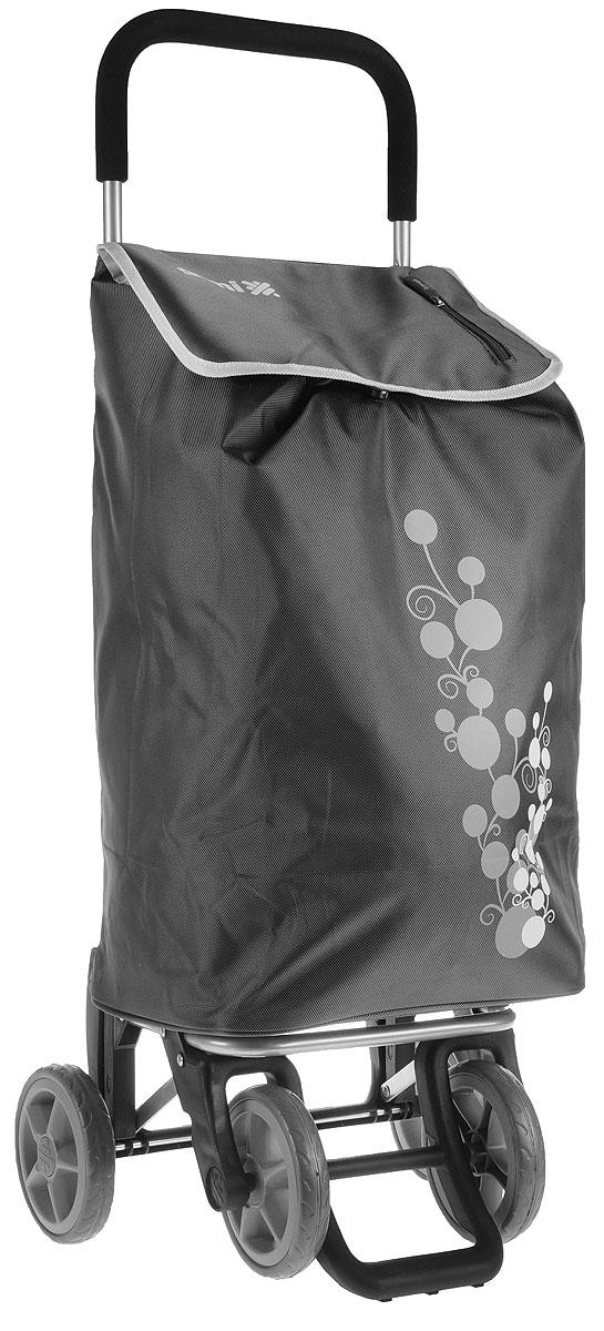 Сумка-тележка Gimi Twin, цвет: серый, 56 лa030041Хозяйственная сумка-тележка Gimi Twin выполнена из высококачественного полиэстера со стальным каркасом. Она оснащена одним вместительным отделением, закрывающимся на шнурок. Имеется карман на застежке-молнии и маленькая ручка для пристегивания к тележке супермаркета. Сумка водоустойчива, оснащена двумя парами колес, которые обеспечивают удобство транспортировки. Для компактного хранения сумку можно сложить. Максимальная нагрузка: 30 кг.